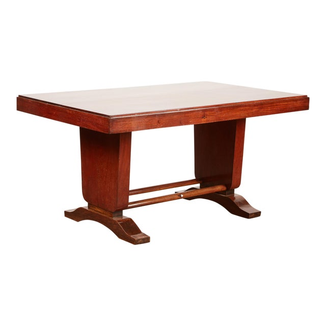 20th Century French Colonial Art Deco Rosewood Desk - Image 1 of 9