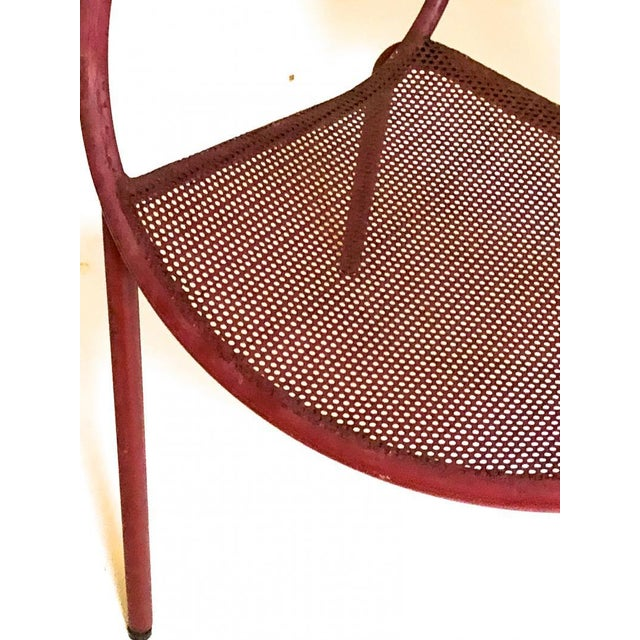 Mid-Century Modern Mathieu Mategot Style Charming Pair of Outdoor Chairs in Vintage Condition For Sale - Image 3 of 6