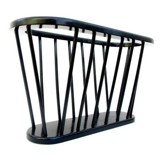 Mid-Century Ebonized Teak Magazine Rack - Image 1 of 5