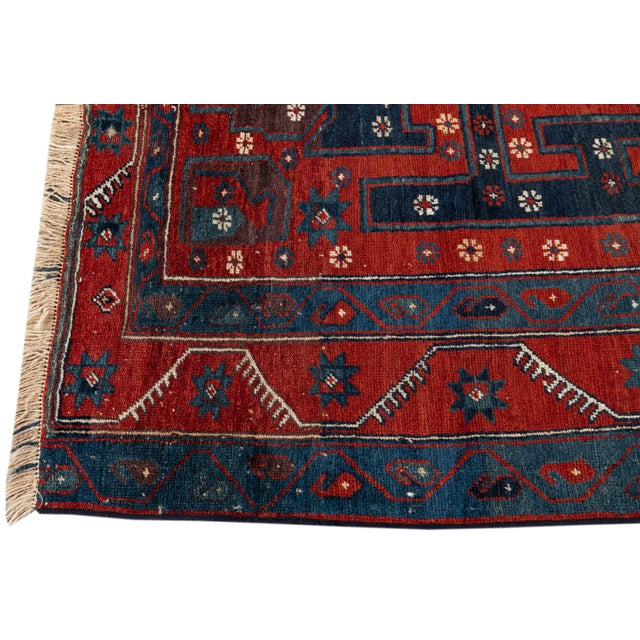 1960s Mid 20th Century Vintage Rug For Sale - Image 5 of 9