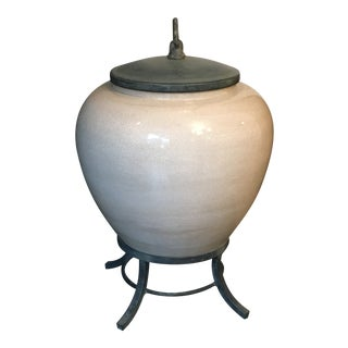 Asian Ginger Jar With Crackle Finish For Sale
