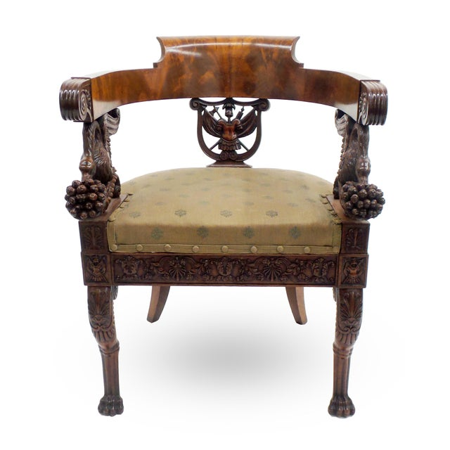 Exceptional Early 19th Century Neopolitan Armchair For Sale - Image 4 of 7