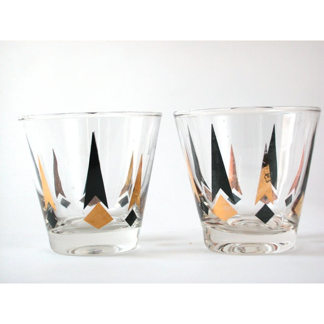 Black & Gold Lowball Glasses - Set of 4 - Image 5 of 8