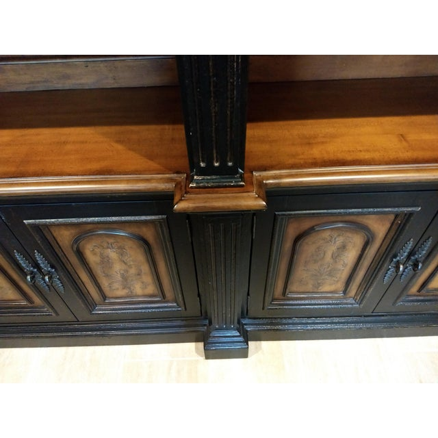 Early 21st Century Library Cabinet - a Beautiful and Diverse Piece for Your Home or Office: Hooker Furniture Double Credenza & Double Bookcase (2 Pieces) For Sale - Image 5 of 13