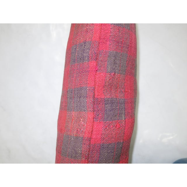 French Turkish Textile Kilim Pillow For Sale - Image 3 of 3