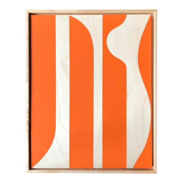 "Modern ""Hermès Orange"" Original Modern Painting by Tony Curry For Sale - Image 3 of 3"