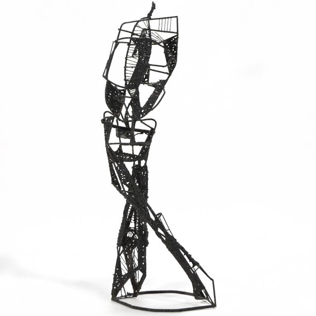 Metal Abstract Figure Sculpture For Sale - Image 7 of 7
