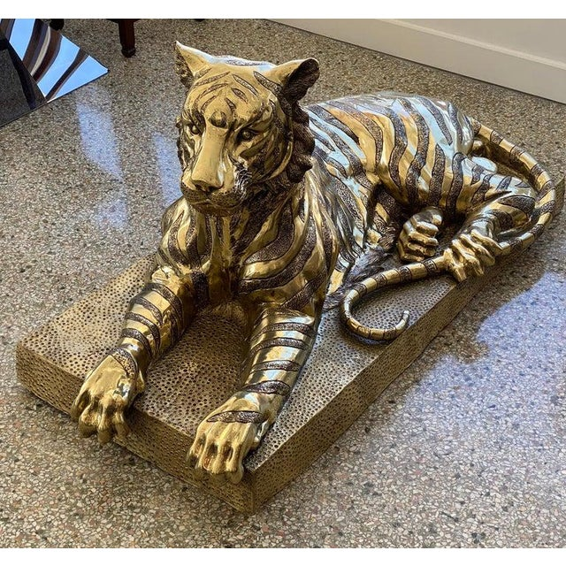 Mid-Century Sculpture Bengal Tiger For Sale - Image 12 of 13