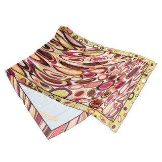 Vintage Emilio Pucci Italian Silk Abstract Oblong Scarf For Sale