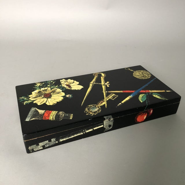 1950s Fornasetti Decorative Wooden Box For Sale - Image 5 of 10