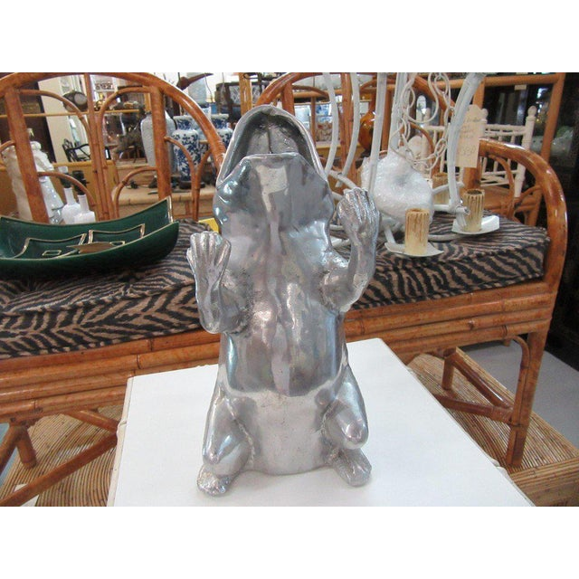 Aurther Court Aluminum Frog Pitcher - Image 4 of 6