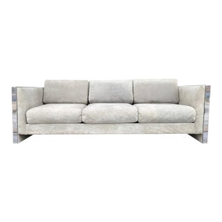 Selig Monroe Chrome Accent Sofa