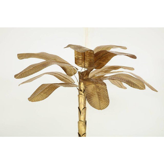 1970s 1970s Vintage Brass Banana Tree Sculpture For Sale - Image 5 of 11