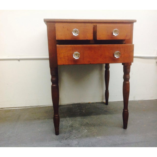 3-Drawer Spindle-Leg Side Table - Image 5 of 5
