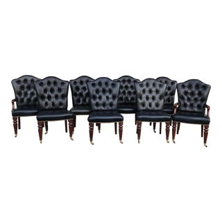 Vintage Henredon Leather Chairs-Set of 8 For Sale