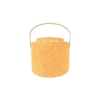 Mid-Century Danish Boda Nova Cork Ice Bucket For Sale
