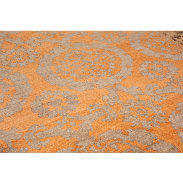 Contemporary Schumacher Sadri Area Rug in Hand-Knotted Wool, Patterson Flynn Martin For Sale - Image 3 of 7