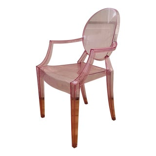 Kartell Pink Lucite Lou Lou Ghost Children's Chair For Sale