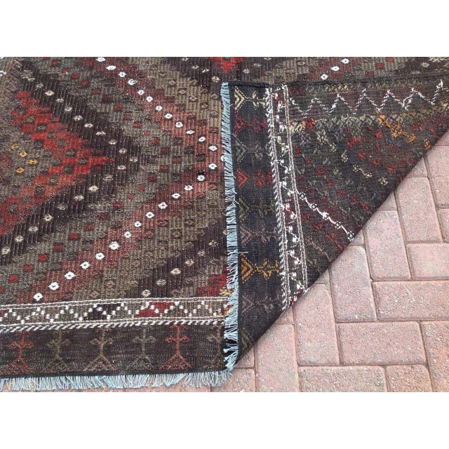 Vintage Turkish Kilim Rug - 5′7″ × 7′2″ - Image 7 of 7