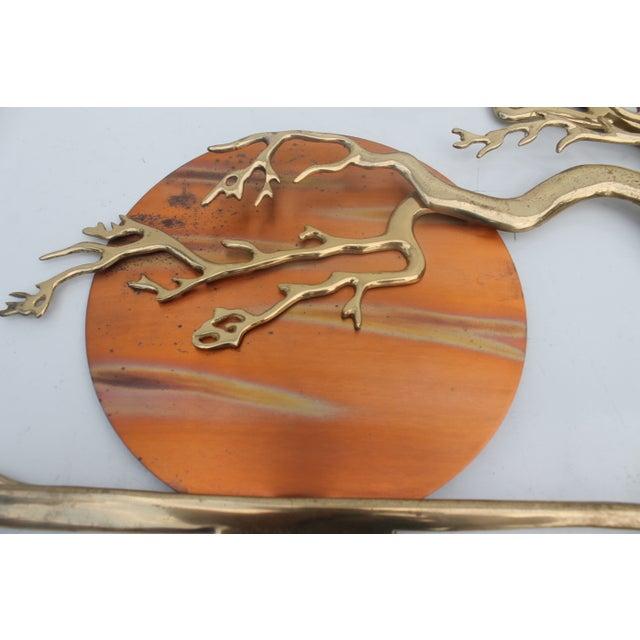 Bijan Solid Brass Wall Sculpture - Image 3 of 10
