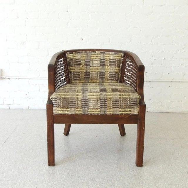 Vintage Boho Barrel Lounge Chair For Sale In Los Angeles - Image 6 of 6