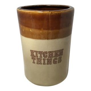 Kitchen Utensils Stoneware Storage Jar