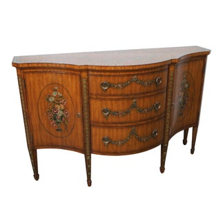 Drexel Heritage Nine Elms Adams Hand Painted Sideboard For Sale