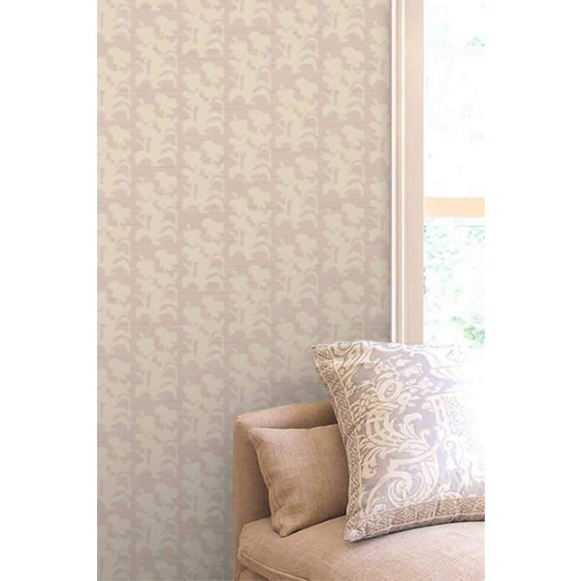 """""""Suzani Floral"""" wallpaper has a block print look -- a floral pattern created from an original painting by Nashville artist..."""