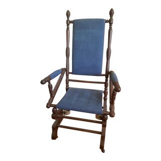 Antique American Eastlake Victorian Platform Rocking Chair