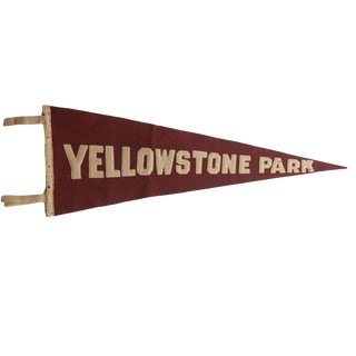Antique Yellowstone Park Felt Flag Pennant For Sale
