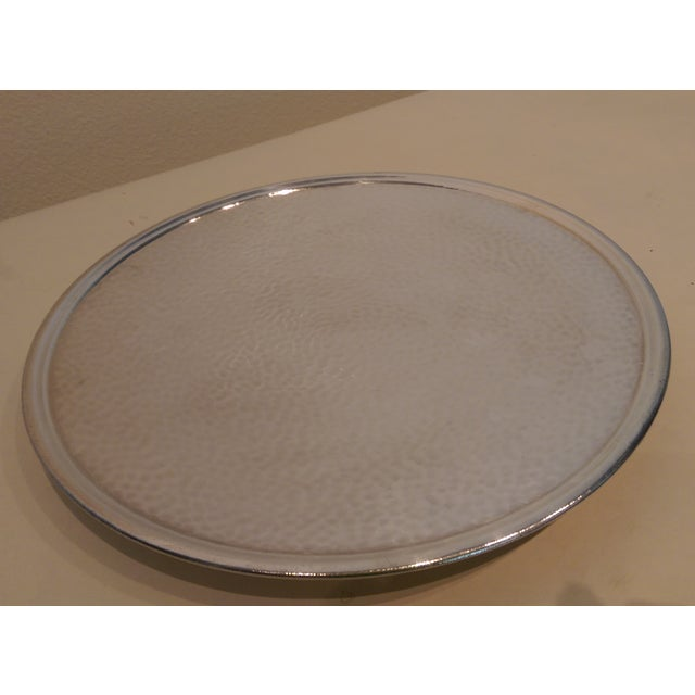 Hammered Silverplate Shallow Dish - Image 4 of 6