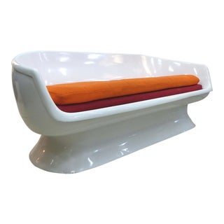 Chromcraft Space Age Enameled Fiberglass Shell Sofa C1960's For Sale