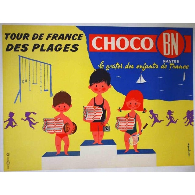 """Original French """"Choco Bn"""" Advertising Poster - Image 5 of 5"""