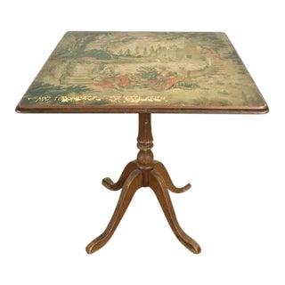 Vintage Wood Figural Painted Table
