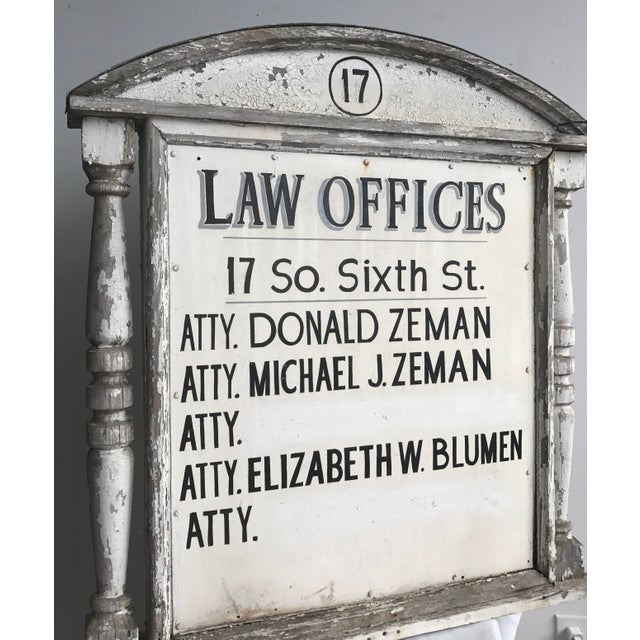 1960s Sign - Vintage Distressed Law Offices Sign For Sale - Image 5 of 6