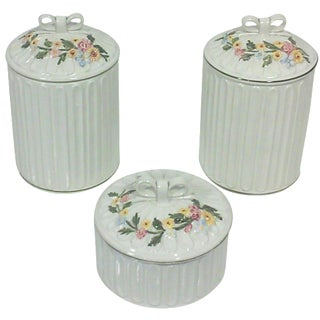 Italian Apothecary Jars - Set of 3 For Sale