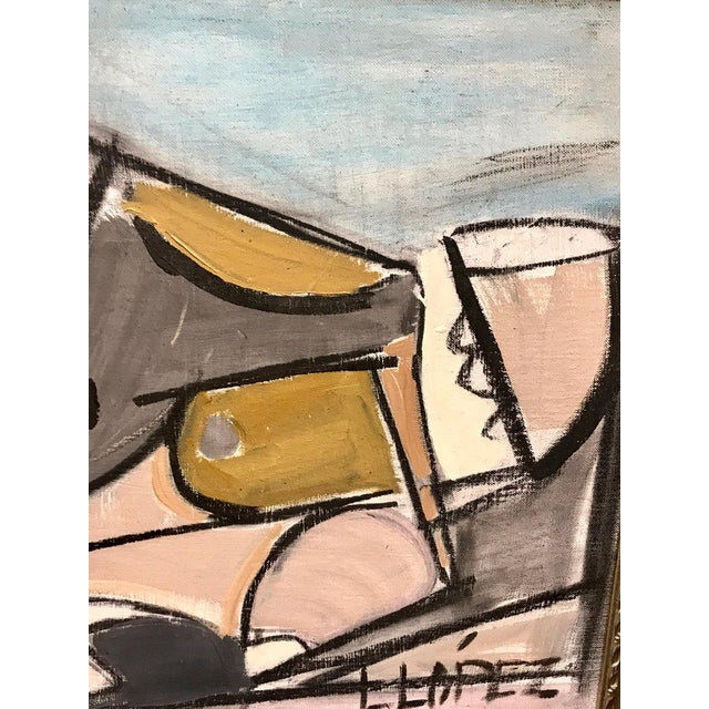 Paint Lucia Lopez Cubist Nude, 1960s For Sale - Image 7 of 9