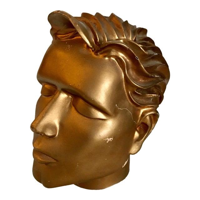 Vintage Fiberglass Man Mannequin Head For Sale