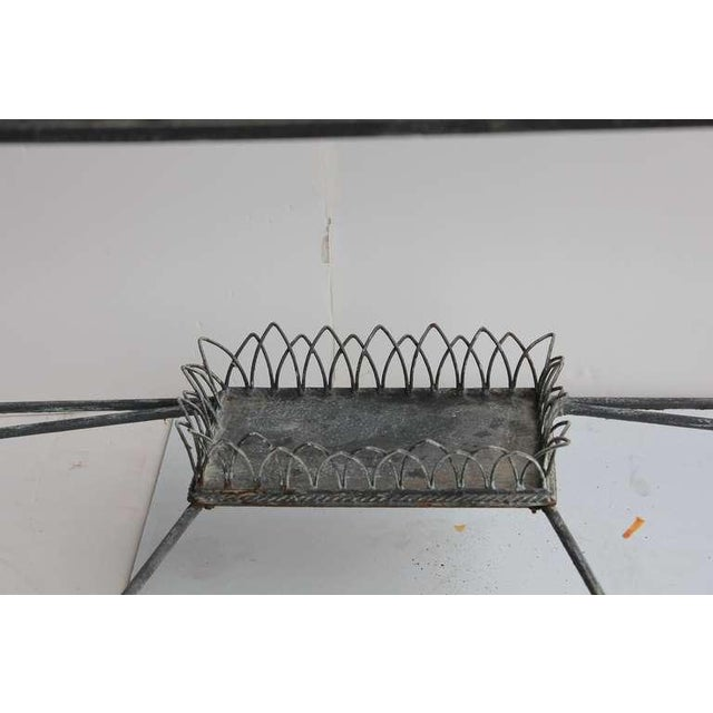 Modern Demilune/Console Metal Table, 2 available - Image 3 of 5
