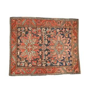 "Antique Heriz Square Rug - 4'9"" X 5'8"" For Sale"