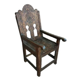 Moroccan Cedar Wood Chair