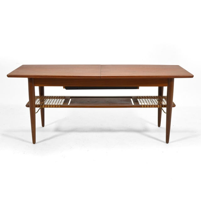 Mid-Century Modern Danish Teak Extension Coffee Table For Sale - Image 3 of 13