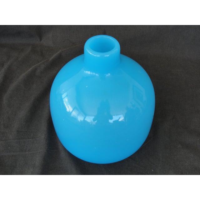 Mid-Century Modern Murano Blue Empoli Art Glass - Image 3 of 5