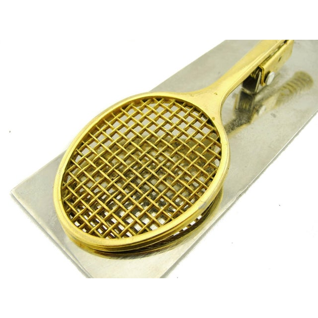 Brass and Chrome Tennis Desk Clip - Image 3 of 5