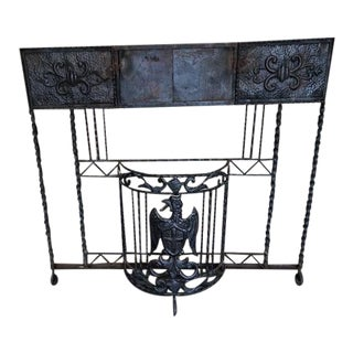 Early 19th Century Antique Wrought Iron Fire Screen For Sale