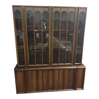 Mid-Century Modern Keller Walnut China Hutch