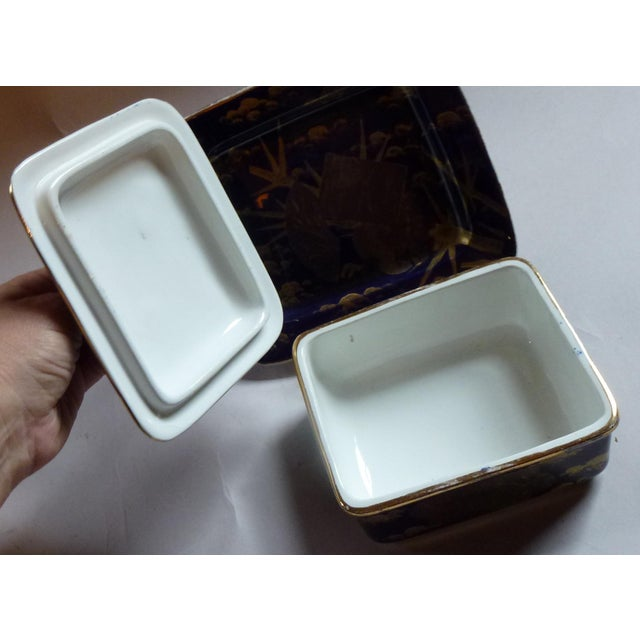 Late 19th Century American Aesthetic Movement Porcelain Box by Ott & Brewer For Sale - Image 5 of 8