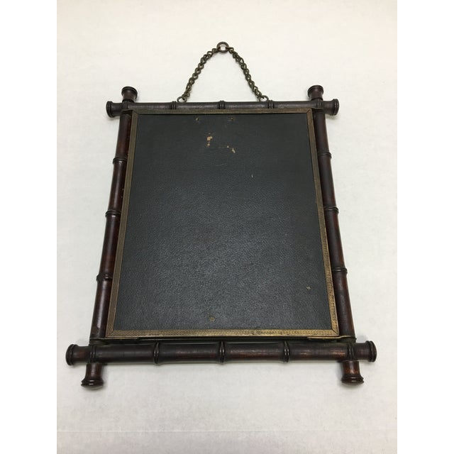 Asian Antique P. Wiederer & Bro. Bamboo Triplicate Folding Shaving Mirror For Sale - Image 3 of 7