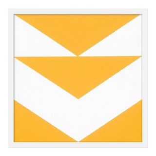 "Small ""Yellow Arrow Down"" Print by Jason Trotter, 20"" X 20"""