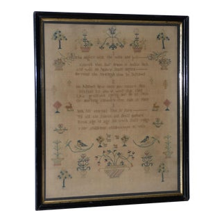 Early 19th Century Sampler by Sarah Price, Aged 10, C. 1812 For Sale